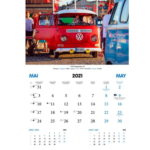 Aircooled Club Estonia kalender 2021